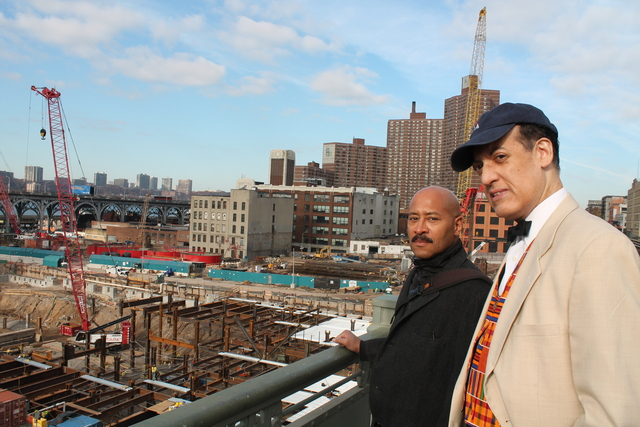 <p>Mark Barksdale and Kevin Barnes are members of a coalition of black architects who have joined forces in an effort to win work from Columbia University at their $6.3 billion West Harlem campus expansion.</p> <p>&nbsp;</p>