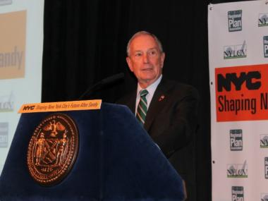 Mayor Michael Bloomberg, on Dec. 6, 2012. On January 27, 2013, he contributed $350 Million to his alma mater, Johns Hopkins University.
