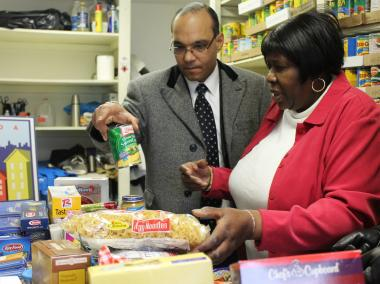 Food pantries in are stuggling to meet demand, according to City Councilman Jimmy Van Bramer.