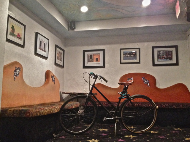 <p>December 19, 2012 - The manager of the cinema bikes to work everyday. Most of the staff live in the neighborhood.</p>