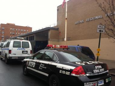 A person was shot in the arm outside of the Bronx Regional H.S. on December 10, 2012.