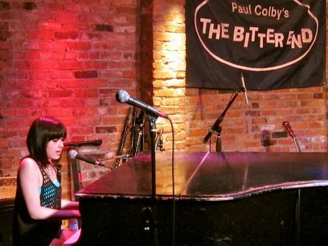 <p>Cecilia Gault, 14, debuts her new music at The Bitter End in Greenwich Village.</p>