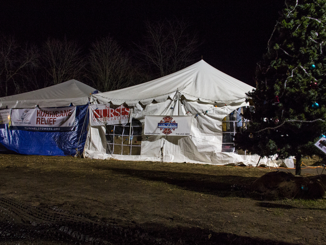 <p>Donna Graziano and volunteers set up a complex of tents to give food, warmth and supplies to residents of New Dorp Beach who had their homes damaged by Hurricane Sandy. Graziano said the city plans to tear down her tents next month, Dec. 20, 2012.</p>