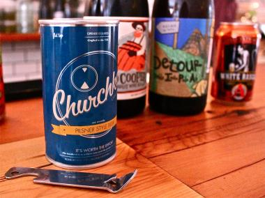 T he  Brooklyn Sandwich Society is the first Brooklyn eatery to offer Churchkey beer.