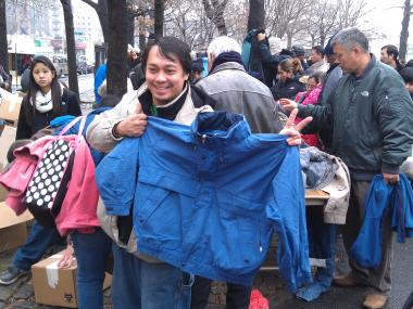 Parishioners partnered with a church in Woodside to collect coats for residents in hard hit areas.