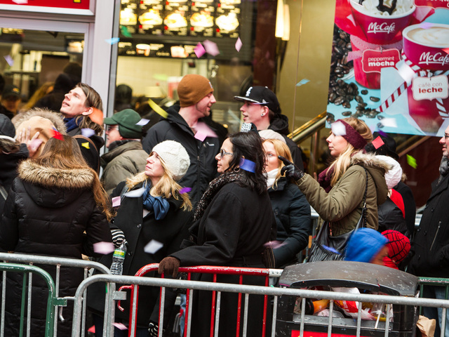 <p>Confetti hits the sidewalks of Times Square during the annual Airworthiness Test on Dec. 29th, 2012.</p>