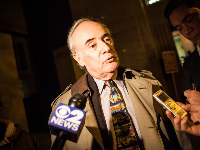 <p>Defense lawyer Stephen Pokart talks to reporters after the arraignment of Naeem Davis at the Manhattan Criminal Court Criminal Court on Dec. 6th, 2012.</p>