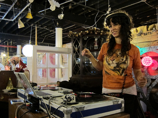 <p>The Gowanus Nite Market at Film Biz Recycling features tunes by DJ Chela.</p>