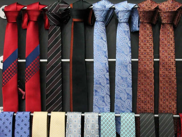 <p>The ties are all manufactured in Como, Italy.</p>