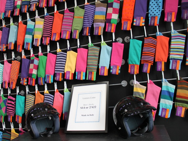 <p>Toscano replaced his stock of slow-selling shirts with colorful socks, predicting they would be the next big fashion trend.</p>