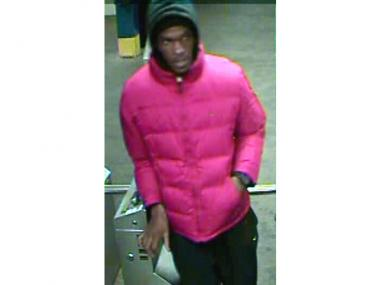 Police are looking for a man who allegedly stole an iPhone from a 35-year-old man at the York Street F station on Nov. 21, 2012.