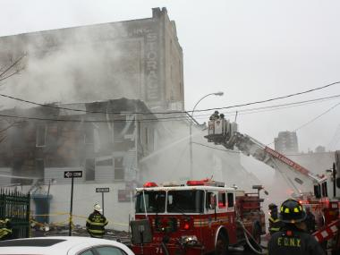 A four-alarm fire left families homeless Sunday, December 16, 2012.