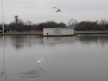 The Fountain of the Planets, built for the 1963-64 World's Fair, may soon be replaced by a soccer stadium.