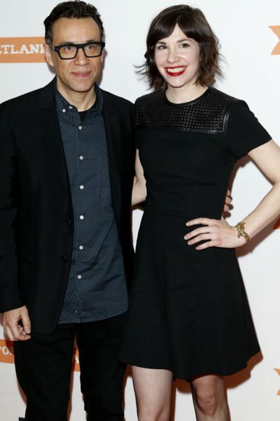 <p>Fred Armisen and Carrie Brownstein at the premiere of the third season of &quot;Portlandia&quot; at the Museum of American History, Monday, December 10, 2012.</p>