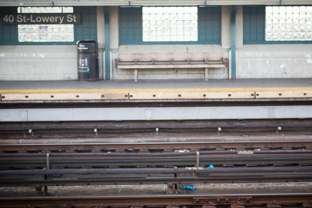 <p>Emergency workers&#39; gloves remained on the tracks at 40th Street station in Sunnyside Friday morning, Dec. 28, 2012, hours after a man was fatally shoved in front of an oncoming 7 train the previous night.</p>