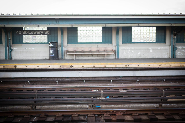 <p>Emergency workers&#39; gloves remained on the tracks at 40th Street station in Sunnyside Friday morning, Dec. 28, 2012, hours after a man was fatally shoved in front of an oncoming 7 train the previous night. He was pushed from in front of this bench, located near the center of the platform.</p>