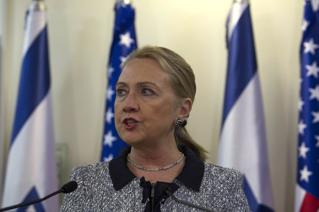 <p>Hillary Clinton, the United States Secretary of State, spoke in Israel at a summit in November 2012. Clinton was reportedly hospitalized Dec. 30 for a blood clot in her brain.&nbsp;</p>
