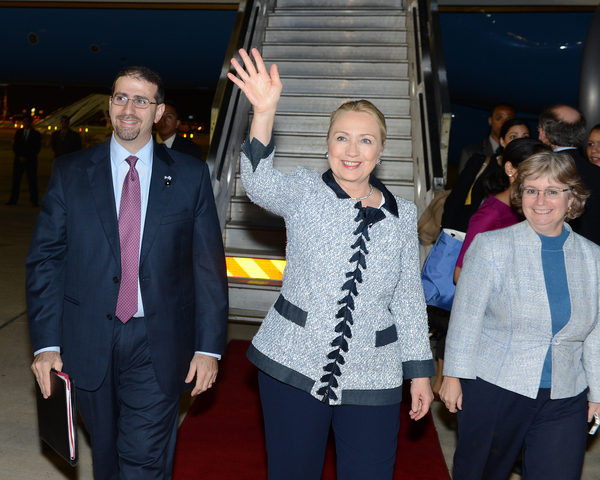 <p>Hillary Clinton visited Israel Nov. 20 in attempts to curb tensions between Israel and Gaza.&nbsp;</p>