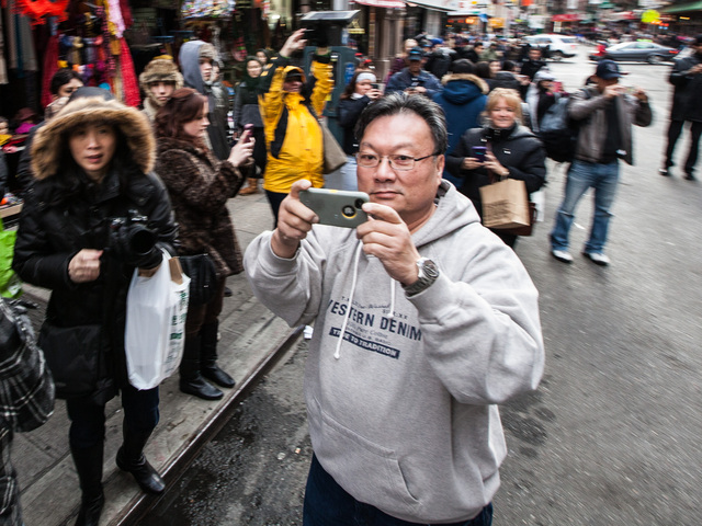 <p>Hundreds of people gathered in the streets of Little Italy and Chinatown to enjoy the annual East Meets West Parade in Chinatown and Little Italy on Dec. 22nd, 2012.</p>