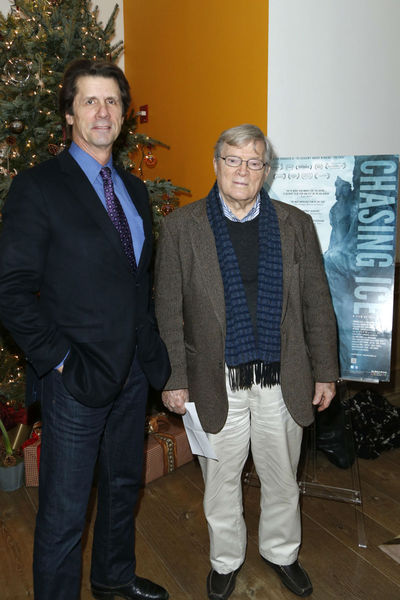 <p>James Balog and D. A. Pennebaker at a screening for &#39;Chasing Ice&#39; at the Cosby Hotel, Wednesday, December 19, 2012.</p>