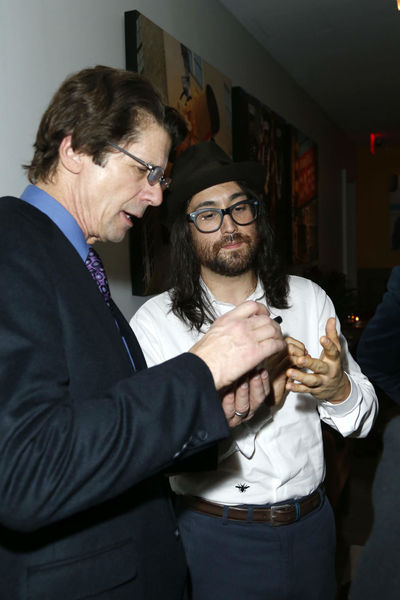 <p>James Balog and Sean Lennon at a screening for &#39;Chasing Ice&#39; at the Cosby Hotel, Wednesday, December 19, 2012.</p>