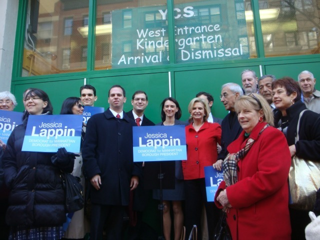 <p>Rep. Carolyn Maloney, assemblymen Micah Kellner and Dan Quart endorse City Councilwoman Jessica Lappin for Manhattan Borough President.</p>