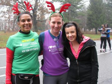 An estimated 4,000 runners participated in the third annual Jingle Bell Jog in Prospect Park on Saturday.