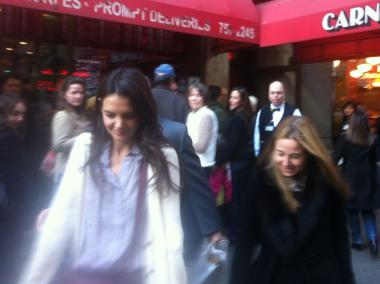 Katie Holmes grabbed a sandwich at Carnegie Deli Wednesday.
