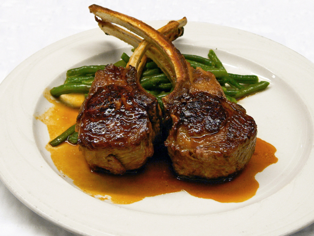 <p>Double Lamb Chops at Keens Steakhouse.</p>