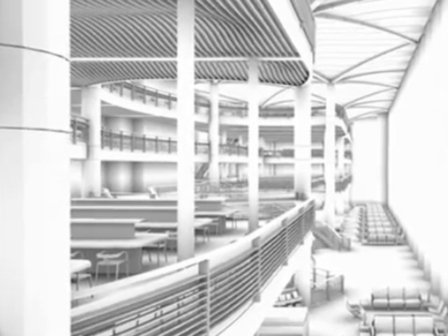 <p>An architect&#39;s rendering of the future plans for the Bryant Park library.</p>