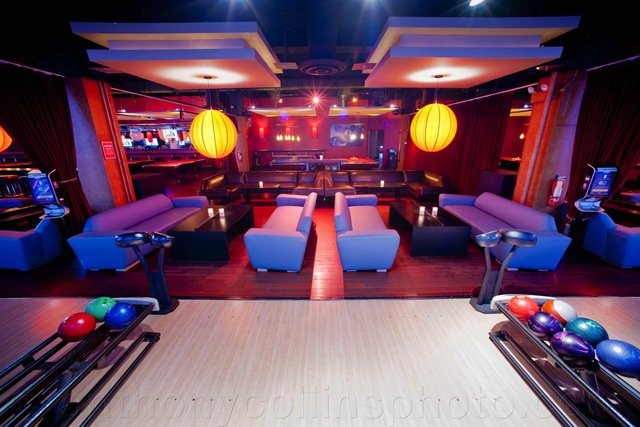<p>A completely new interior at Lucky Strike Lanes, built after it was flooded with over 250,000 gallons of water.</p>