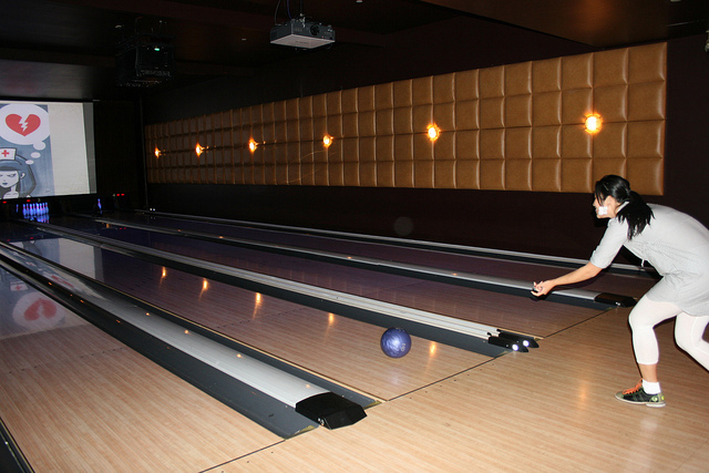<p>The old bowling alley at Lucky Strike Lanes, which was flooded during Hurricane Sandy.</p>