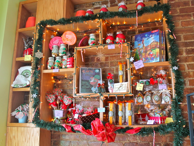 <p>Holiday treats on display at Malu, an ice cream shop in Long Island City.</p>