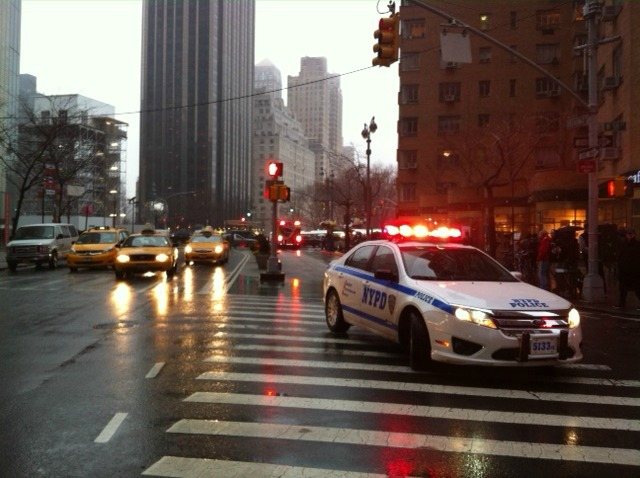<p>A man was shot in the head on West 58th Street between Seventh Avenue and Broadway Dec. 10, 2012.</p>
