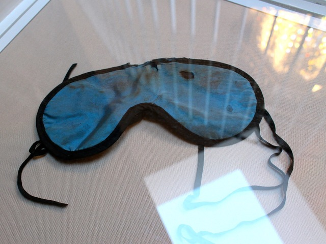 <p>This silky eye mask belonged to Marilyn Monroe.</p>