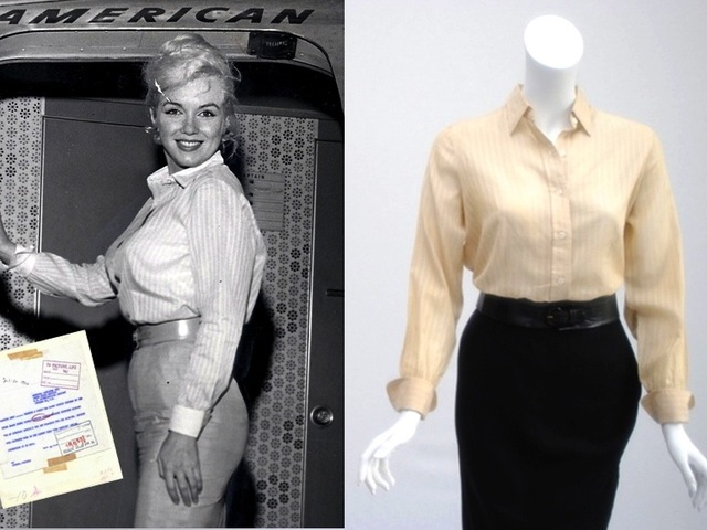 <p>This outfit once worn by Marilyn Monroe is on display at the Erno Laszlo Institute in SoHo through Dec. 31, 2012.</p>