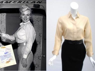 Clothing, accessories and other items once owned by Marilyn Monroe are on display at the shop and luxury spa through December 2012.