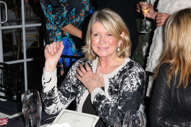 <p>Martha Stewart attends the Haute Living and Roger Dubuis dinner hosted by Daphne Guinness at Azur on December 5, 2012.</p>