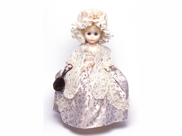 <p>Many Madame Alexander Dolls are fashioned after famous women and fictional characters. Pictured is a Martha Washington Madame Alexander Dolls, manufactured in 1976 or after.&nbsp;</p>