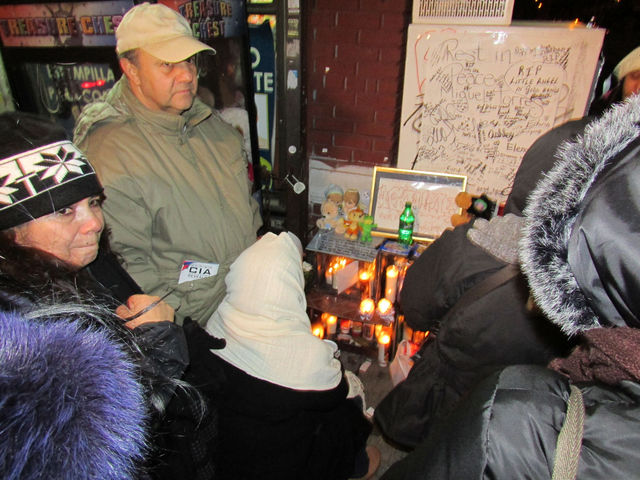 <p>The family of Miguel Torres mourns his death on Dec. 30. Torres died on Dec. 28 after being hit by a dump truck.</p>