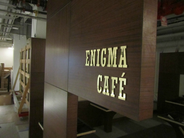 <p>The Enigma Cafe inside the new Museum of Mathematics on East 26th Street in the Flatiron District. The museum is scheduled to open Saturday, Dec. 15, 2012.</p>
