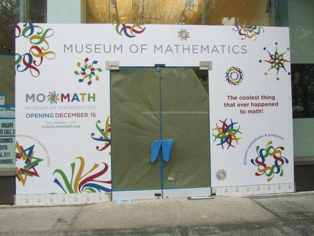 <p>MoMath has been in the works for nearly two years. It will occupy 20,000 square feet of space inside a landmarked building across from Madison Square Park.</p>