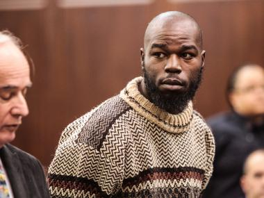 Naeem Davis, 30, is arraigned at Manhattan Criminal Court on charges of intentional murder and murder through depraved indifference charges in the death of Ki-Suck Han on Dec. 5th, 2012.