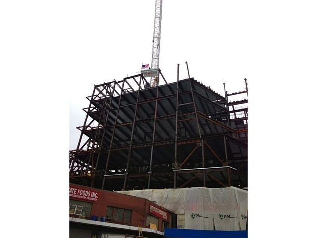 <p>The Whitney Museum&#39;s future home in the Meatpacking&nbsp;District topped out at nine stories Dec. 17, 2012.</p>