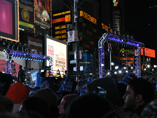 <p>The scene in Times Square on Monday, Dec. 31, 2012.</p>