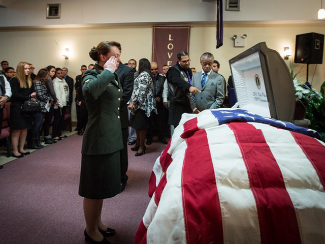 <p>Specialist Corr paid her last tribute to Noel Polanco, am unarmed National Guardsman shot and killed by NYPD detective during a traffic stop, who was promoted posthumous to a sergeant, Oct. 12, 2012.</p> <div> 	<br /> 	&nbsp;</div>