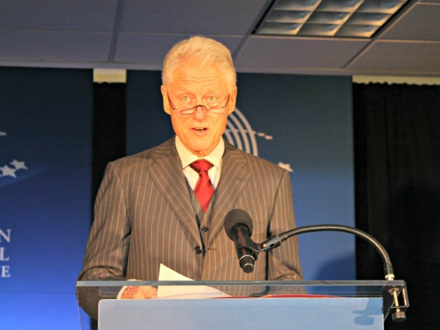 <p>Former President Bill Clinton announced the pledge at the Clinton Global Initiative headquarters in Harlem.</p>