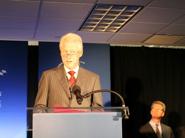 <p>Former President Bill Clinton at the announcement on Dec. 13, 2012.</p>