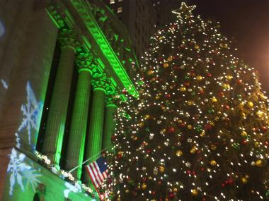 89th annual NYSE Tree Lighting on December 4th, 2012.