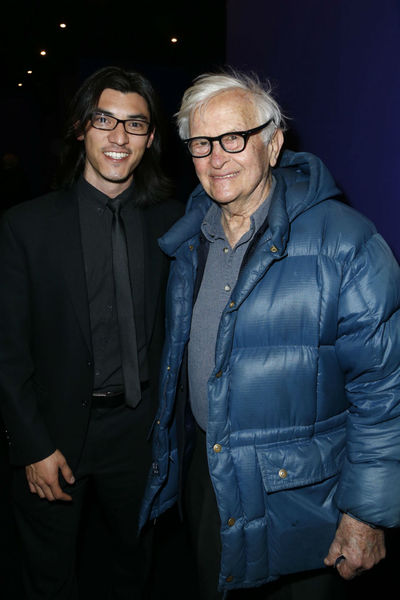 <p>Orlovski and Albert Maysles at a screening for &#39;Chasing Ice&#39; at the Cosby Hotel, Wednesday, December 19, 2012.</p>